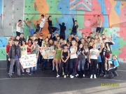 Students Against the Climbing Wall Backround
